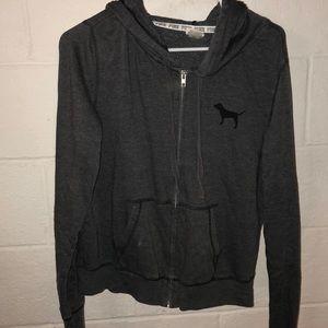Pink grey full zip up jacket